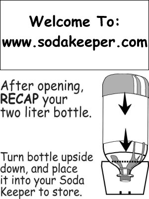 Directions Included on Soda Keepers